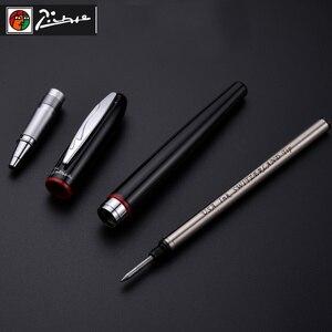 Image 4 - Pimio 907สีดำเรียบและRed Rollerballปากกาเงินคลิปโลหะคุณภาพสูงปากกาลูกลื่นปากกาOriginalกรณีของขวัญชุดปากกา