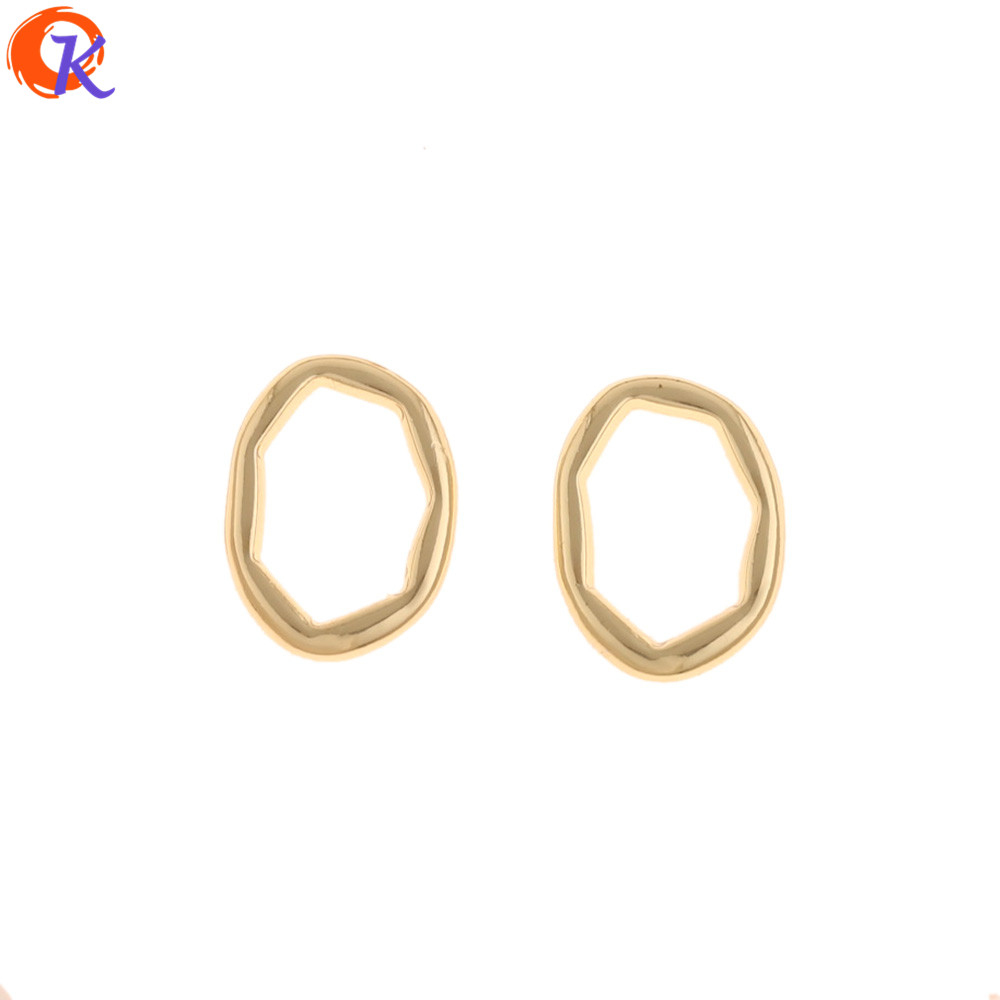 Cordial Design 100Pcs 14*18MM Jewelry Accessories/Earrings Connectors/DIY Making/Oval Ring Shape/Hand Made/Earring Findings