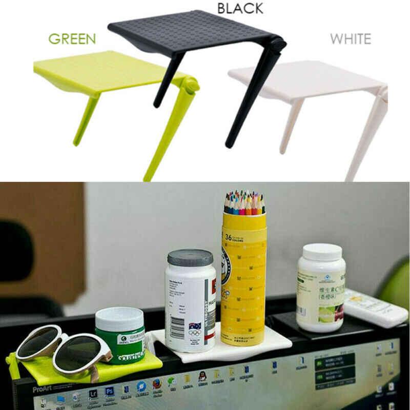Folding Laptop Desk Meja Bed Adjustable Portable Stand Komputer Tray Furniture