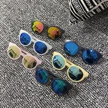 Fashion Round Kids Sunglasses Girls Children Goggle Baby Boys Anti-UV Sun Glasses Shades Mirror Colorful UV400 Travel Eyewear