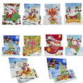 8 шт 5D DIY особой формы алмазов картина поздравительная открытка с трехмерной аппликацией в виде рождественские открытки на Рождество подаро...