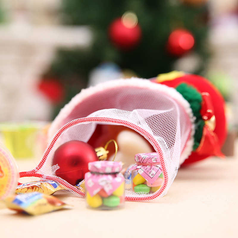 4 Style Merry Christmas Red Candy Boots Christmas Decorations for Home Xmas Stocking Gift Box Holders 2021 New Year Decoration