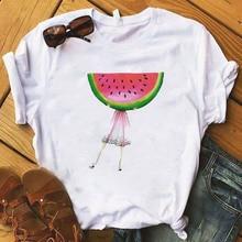 Fashion pineapple fruits Women T Shirt Kawaii watermelon Tshirt Girl Laides Tumblr Tee Hipster Clothing Female T-shirt Print