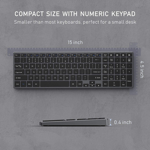 Image 5 - Jelly Comb Bluetooth клавиатура для iPad, планшета, ноутбука, совместима с IOS, Windows, металлическая перезаряжаемая клавиатура AZERT, Франция/Россия