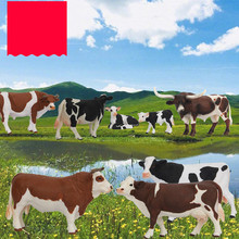 Animal-Toys Action-Figures Cattle Cow-Buffalo Zoo Farm Bison Kids PVC for Yellow Gifts