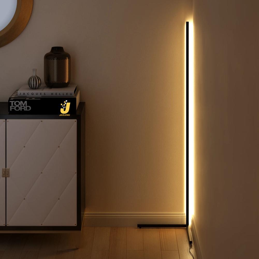 Modern LED Floor Lamp Bedroom Corner Decor Floor Light Living Room Bedside Atmosphere Lamp Colorful Club Indoor Standing Light