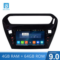 Besina Android 9.0 Car DVD Player For peugeot 301 Citroen Elysee Radio 2013 2014 2015 2016 Multimedia GPS Navi WIFI Octa C