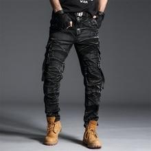 Camo calças de carga dos homens calças de trabalho pant multi bolso do exército pantalon térmico dos homens calças de camuflagem militar novo algodão 164