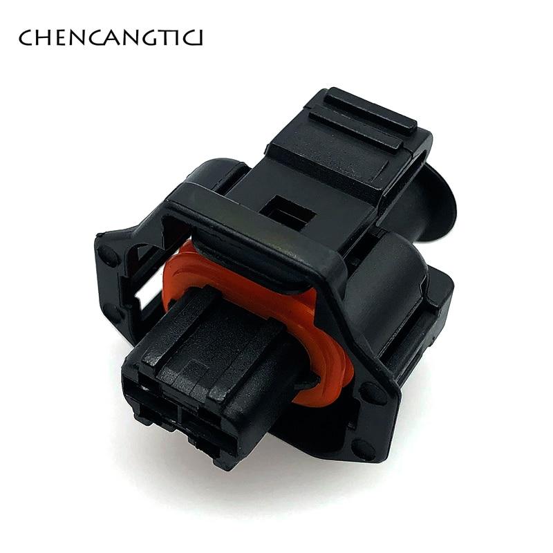 5 Pcs 2 Pin/way Automotive Plug Diesel Fuel Common Rail Injector Crankshaft Sensor Female Connector  For Ford Renault 1928403874