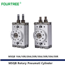 MSQB Rotary Pneumatic Cylinder Adjustable 0-190 Degrees Model 10A 10R 20A 20R 30A 30R 50A 50R SMC Type Shock Absorber