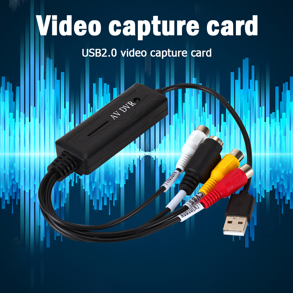 Portable Easy to cap USB2.0 Audio Video Capture Card Adapter VHS To DVD Video Capture Converter For Win7/8/XP/Vista 2
