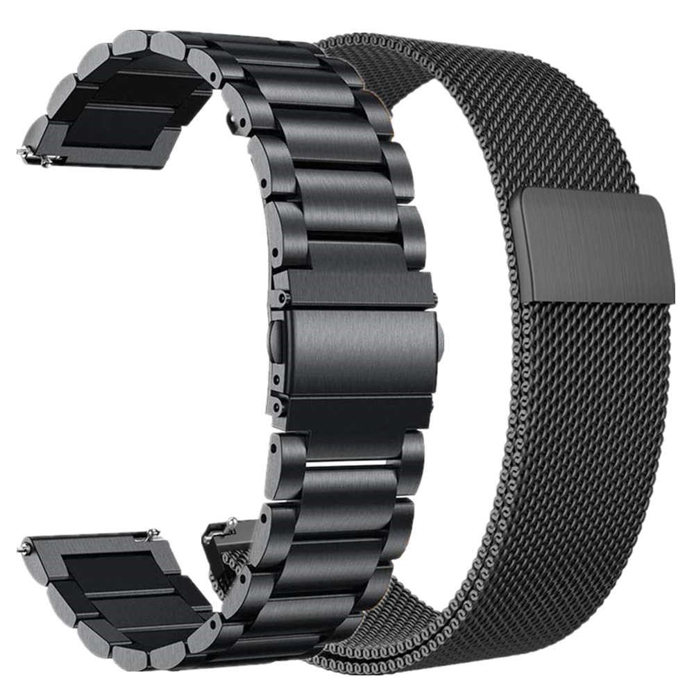 لسامسونج غالاكسي ساعة Active2 44 مللي متر 40 مللي متر الفرقة المغناطيسي milanese حلقة حزام 20 مللي متر الفولاذ المقاوم للصدأ أسورة يد ل نشط 2