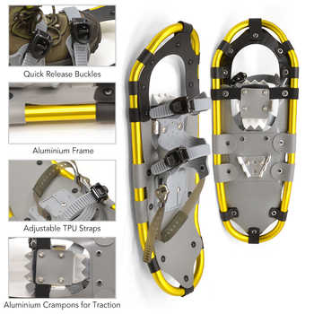 Outdoor Winter SnowShoes Aluminum with Adjustable Poles Carry Bag for Women Men Ski Boots Adjustable Bindings Carrying Tote Bag