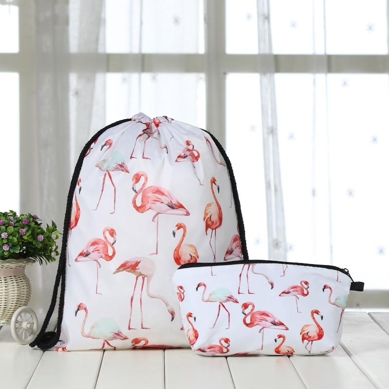 Suit Drawstring Backpack Drawstring Bags Fashion  Printing Men Casual Bags Unisex Women's Shoulder 3D Bag Bundle Pocket New Man