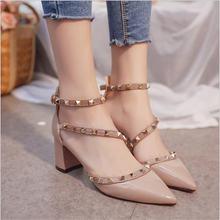 Женская обувь 2020 Летние босоножки с острым носком; Лаковая