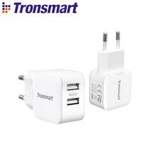 Tronsmart W02 USB быстрое зарядное устройство 12 Вт двойной порт быстрое зарядное устройство мини зарядное устройство для телефона, xiaomi, huawei, iPhone, iPad Pro, samsung