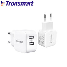 Tronsmart W02 USB Quick Charger 12W Dual Port Fast Charger Mini Wall Charger for phone,xiaomi,huawei,iPhone,iPad Pro,Samsung(China)