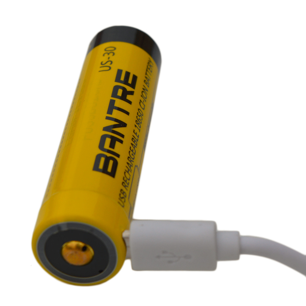 3000MAH Large Capacity 18650 Battery Relacement USB Rechargeable Battery For Travel Flashlight Torch in Rechargeable Batteries from Consumer Electronics