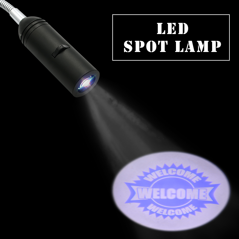 E27 Base WELCOOME Logo Projector Led Spot Light Xmas VIP Projector Light Support Customize Logo Hotel Adversting Display Lamp