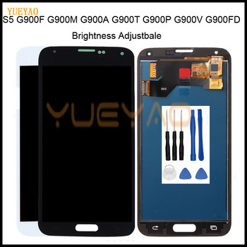 100% Test Lcd for Samsung Galaxy 4G S5 i9600 G900 G900M G900F Lcd Display Touch Screen Digitizer Assembly Free Tool image