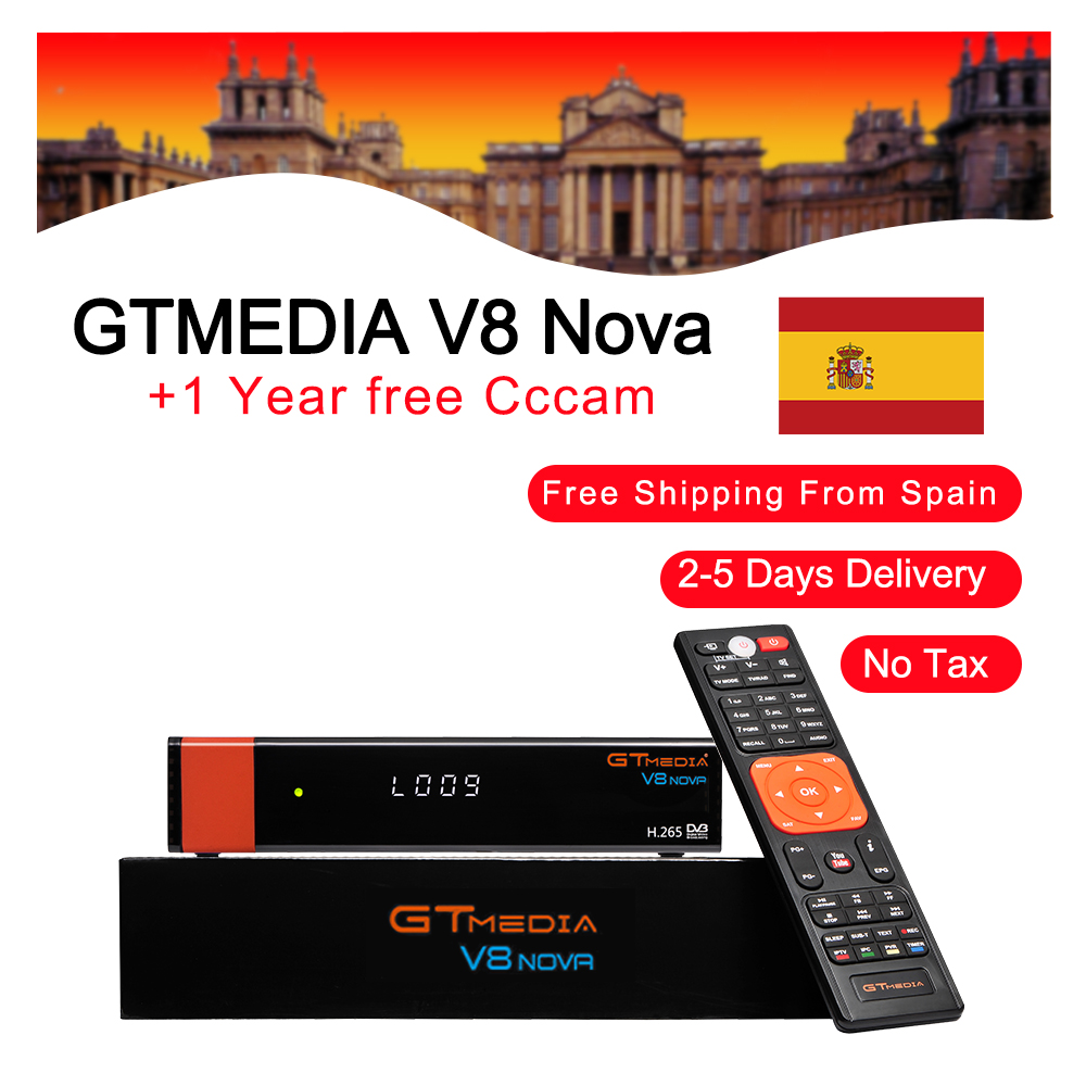 Best 1080P DVB-S2 GTmedia V8 Nova CCcam Cline Spain Satellite TV Receiver Same GTmedia V8 Nova Freesat V9 Super Europe CCcam 2