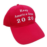 2020 Donald Trump Red Hat Re Election Keep America Great Embroidery USA Flag MAGA Cap Cotton Baseball Hat Cap For Trump Hat