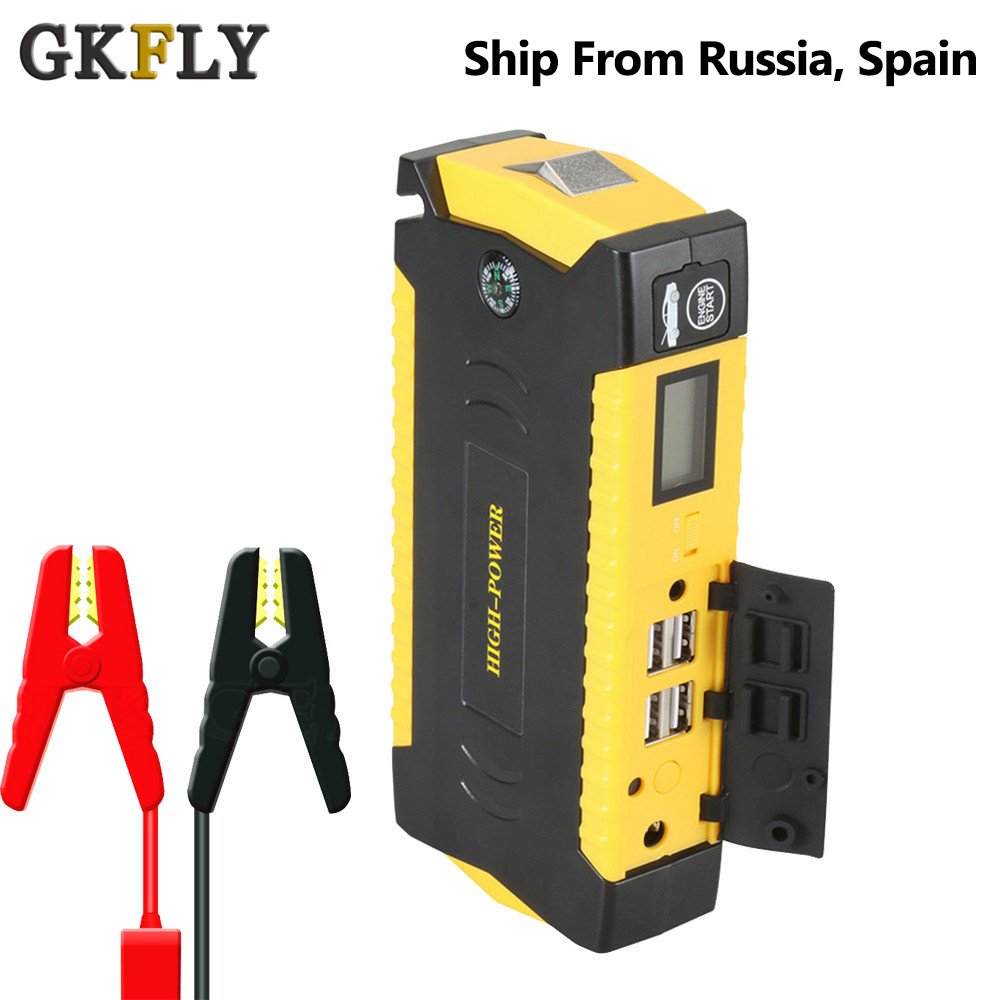 GKFLY Car Jump Starter Power Bank 600A Portable Car Battery Booster Charger 12V Starting Device Petrol Diesel Car Starter Buster