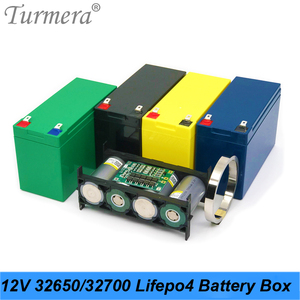 Turmera 32650 32700 Lifepo4 Battery Storage Box with 4S 40A BMS 1x4 Bracket for 12V 7Ah Uninterrupted Power Supply Battery Use A