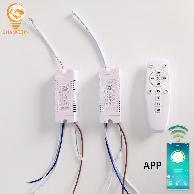 (20-40 Вт) x2 80 Вт + 220 В (40-60 Вт) x2 120 Вт + 220 В 2,4 г светодиодный драйвер с дистанционным управлением, светодиодный трансформатор с APP управлением и ка...