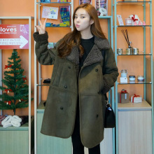 SWYIVY Women Wool Coats   long Design 2018 Autumn Winter New Female Casual Slim Wool Coat Green Woman Woolen Coats Warm Outwear vyu kids girls overcoat new autumn winter 2018 woolen coat lapel thickening windproof warm long outwear teens coats