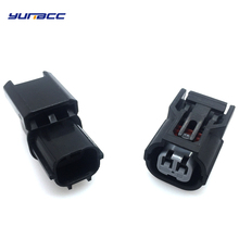 все цены на 1set 2pin Honda inlet pressure sensor connector male and female waterproof plug 6188-0590 6189-0891 онлайн