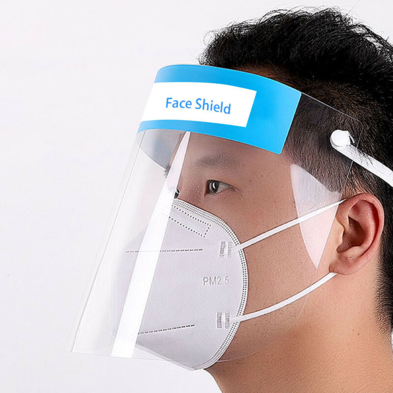 New Transparent Adjustable Full Face Shield Plastic Anti-fog Anti-dust Protective