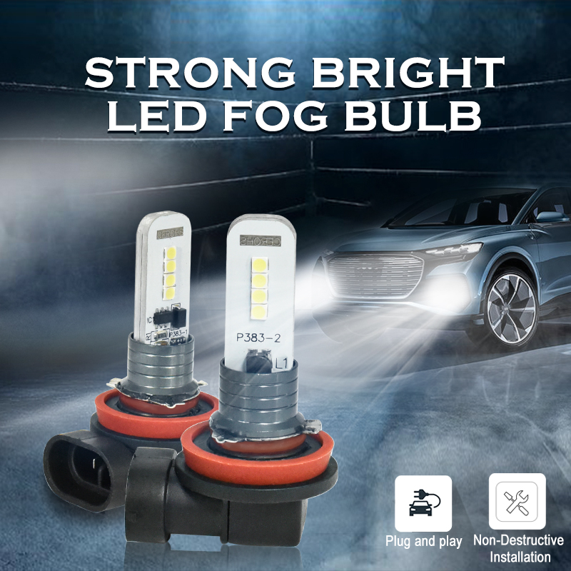 CNSUNNYLIGHT 2pcs H11 H7 LED H8 H4 Car Fog Lamps 9006 HB4 9005 HB3 Daytime Running White Light Driving Turning Parking Bulbs 12V