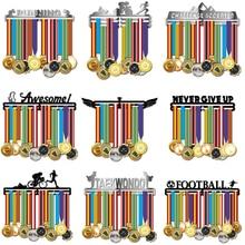 Colgador de medallas de acero inoxidable para correr, colgador deportivo para corredores