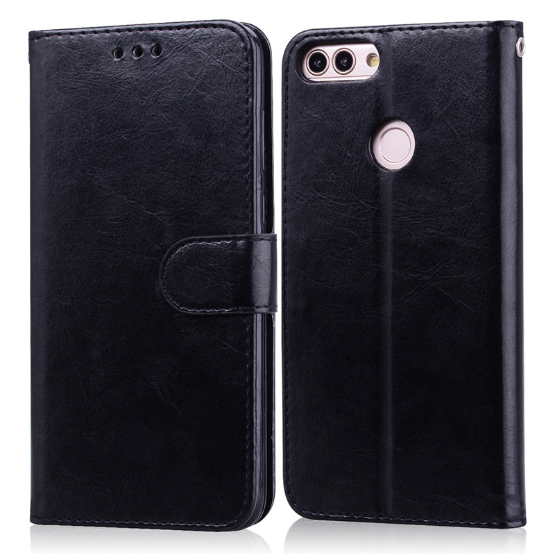 For Huawei <font><b>P</b></font> <font><b>Smart</b></font> 2018 Case FIG-LX1 Soft TPU Luxury Leather Wallet Flip Case For Huawei <font><b>P</b></font> <font><b>Smart</b></font> FIG-LX1 Phone Case <font><b>5.65</b></font> inch image