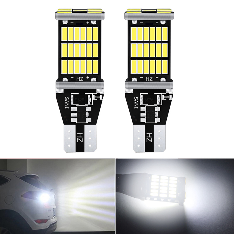 2pcs T15 <font><b>led</b></font> Canbus 921 W16W Car Backup Reverse Bulb Lights for BMW E46 E39 E90 E60 <font><b>E36</b></font> F30 F10 E30 E34 X5 E53 M M3 M4 Z4 Z3 image