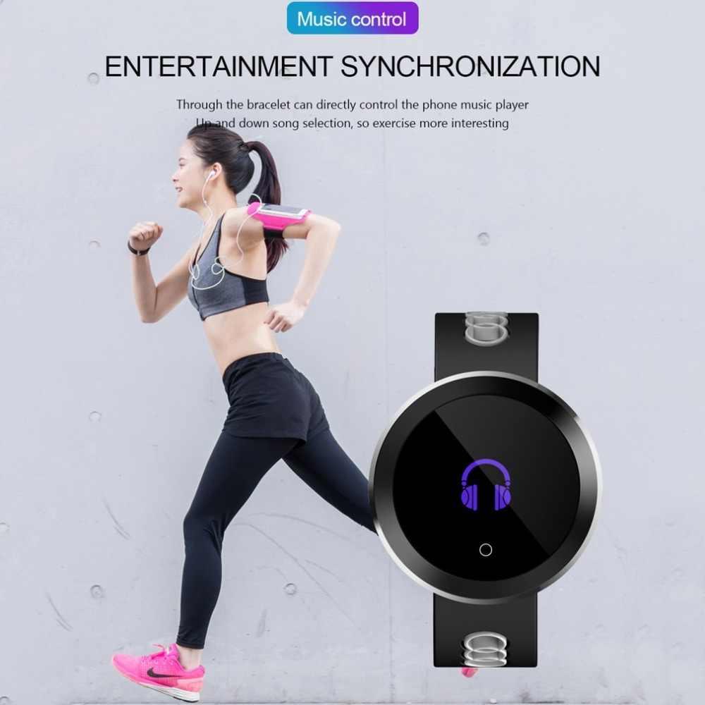 0,95 дюймов OLED Bluetooth Смарт часы IP68 Водонепроницаемый Q8 pro для мужчин и женщин монитор сердечного ритма фитнес трекер умные часы