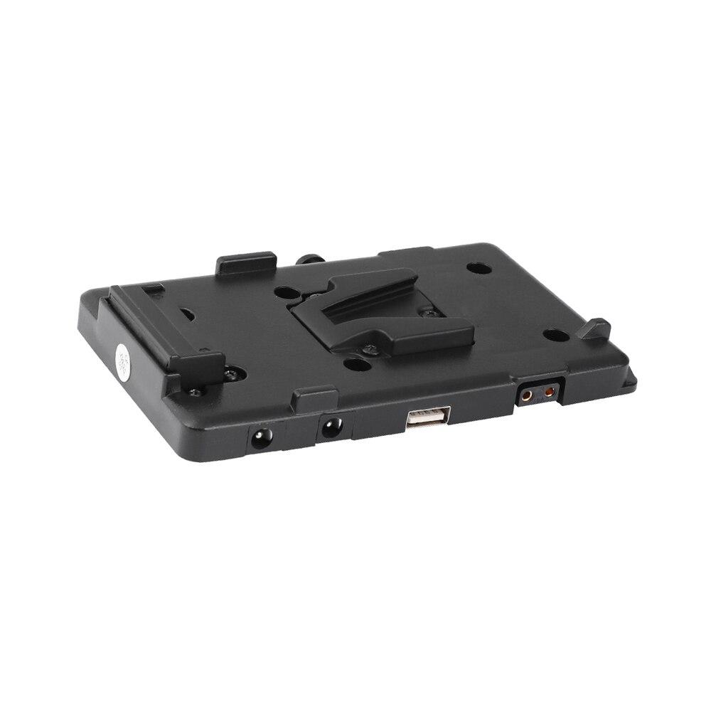 Kayulin adaptador de bateria divisor de energia adaptador com liberação rápida fêmea v montagem de bloqueio para câmera dslr luz de vídeo e monitor