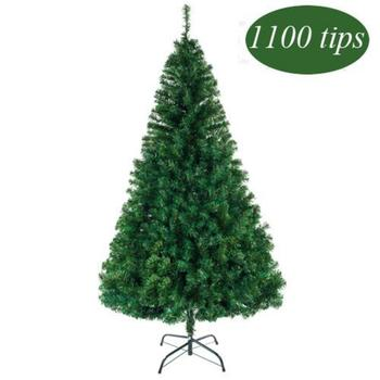 PVC Christmas Tree For Home Decorations Alightup 7ft 1100 Branch Artificial Christmas Tree New Year Holiday Decoration Delicate