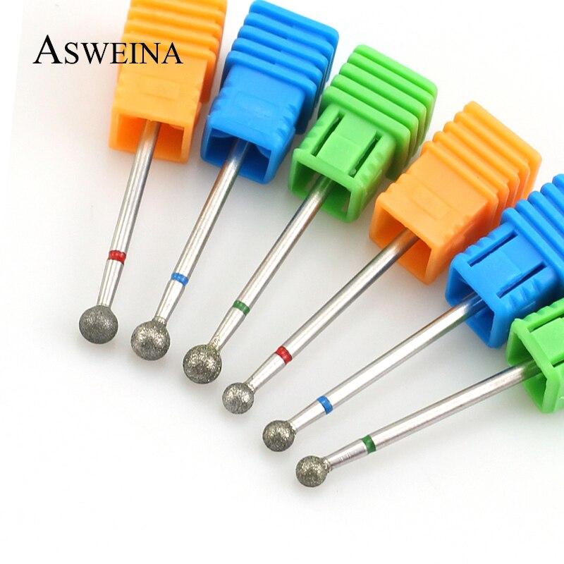 1 шт. Алмазная дрель для ногтей, вращающаяся фреза, электрические фрезы, напильники 5,0 мм, фреза для маникюра, аксессуары для кутикулы