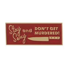 Favorite Murder Podcast Show MFM Red Lapel pins Feminist Tag Knife Dagger Letter slogan Brooches for woen Femael Jewelry