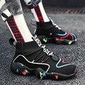 Мужская Повседневная дышащая обувь без шнуровки на воздушной подушке  сохраняющие тепло кроссовки  весенняя обувь  Уличная обувь на плоско...