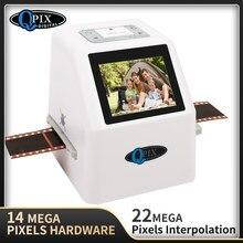 Alta resolução 22 mp 35mm scanner de filme negativo 110 135 126kpk super 8 conversor de filme digital do varredor da foto do filme da corrediça 2.4