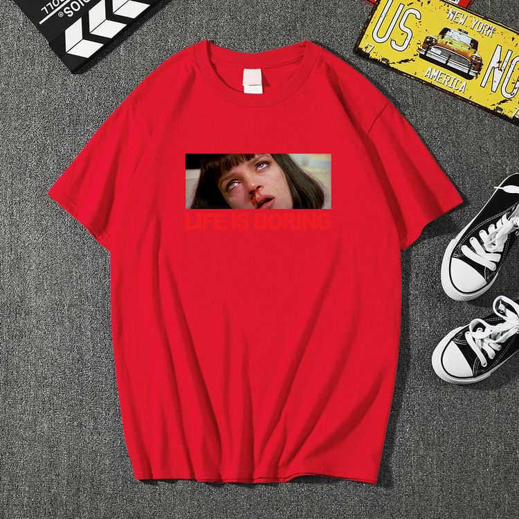 2020 새로운 패션 인생은 지루한 t 셔츠 브랜드 의류 힙합 편지 3d 인쇄 남자 t 셔츠 반팔 anime 고품질