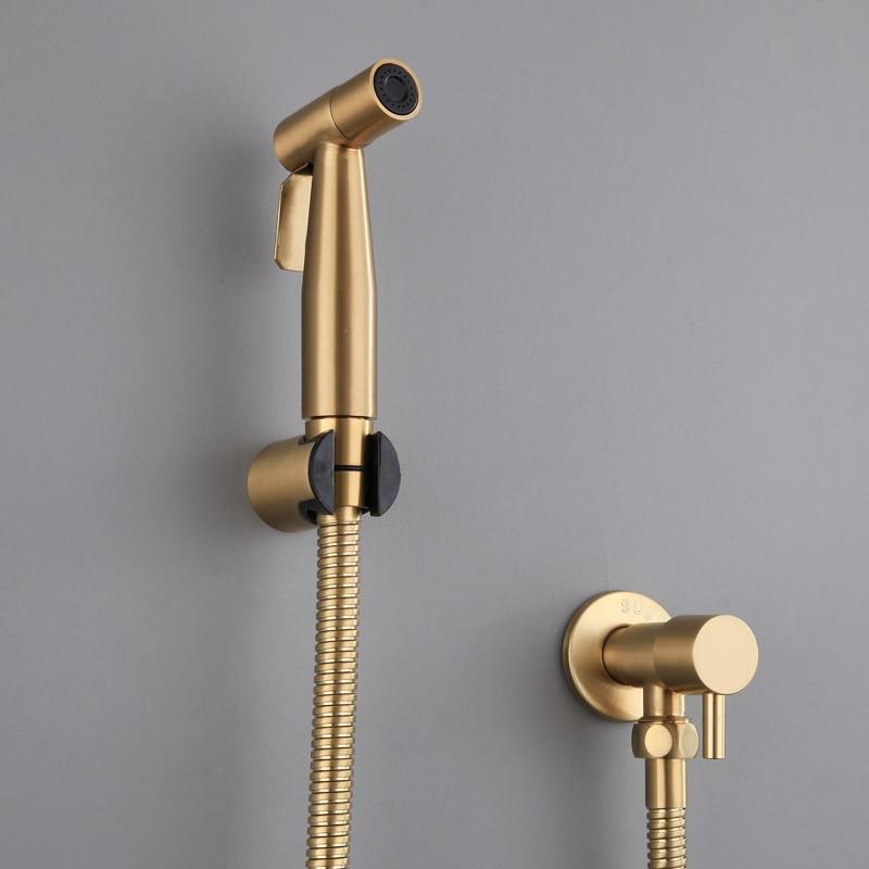 Bathroom Hand Held Shower Head Douche Bidet Toilet Spray Jet Hose Kit HC