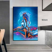Abstract nude woman and man sexy body art painting print on canvas modern wall art prints and posters home decoration Cuadros