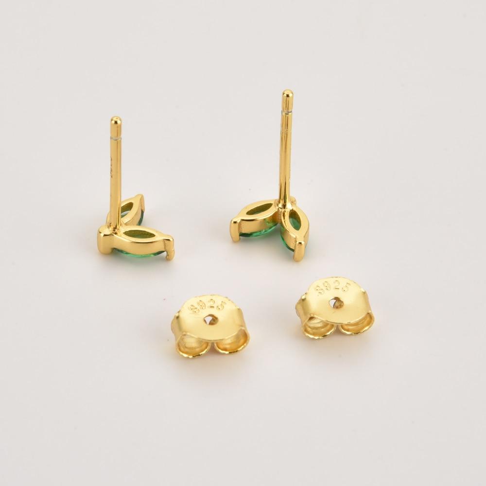 ANDYWEN 925 Sterling Silver Gold Rainbow Colorful Purple Green Stud Earring Piercing Ohrringe Luxury CZ Fashion Fine Jewels