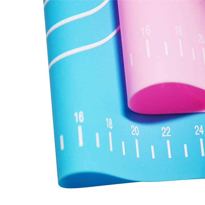 Silicone Baking Cake Dough Fondant Rolling Pad Table Mat with Scale 0036