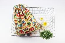 Сумка с совой сумка на шнурке Хлопковая принтом совы органайзер