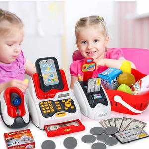 Model Cash-Register-Toy Simulated Role-Counter Gift Supermarket Pretend Play Learning